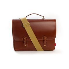 The Reiver Leather Briefcase in brown handmade from veg tanned leather,  perfect for carrying a b2108d7a59