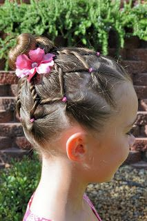 Princess Piggies: Fairytale Bun  Good for a gymnastics birthday party :)