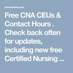 photograph relating to Free Printable Cna Inservices identify 12 Excellent Proceeding Professional medical Training (CEU/CME) shots in just