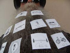BEARD GALLERY - Opere di Horst Tress installate sulla mia barba (Galleria Pensile)