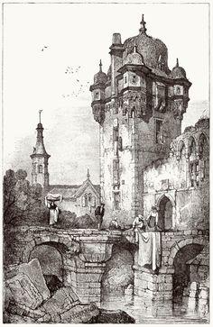oldbookillustrations: Andernach.  Samuel Prout, de Sketches de Samuel Prout, par Charles Holme, London, 1915. (Source: archive.org)
