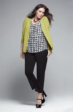 Sejour Cardigan, Shell & Vince Camuto Pants | Nordstrom