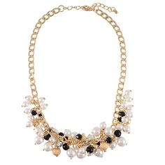 Black Pearly Cluster Necklace | $12 | jewelboxonline.com