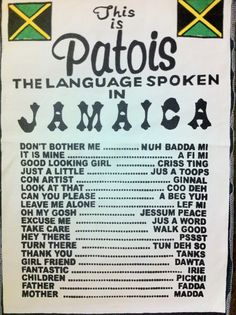 Learn Jamaican Patois