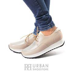 Pantofi Casual Dama 102 Bej-Auriu Oxford Shoes, Casual, Women, Fashion, Moda, Fashion Styles, Fashion Illustrations, Woman