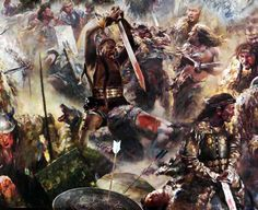 Melee combat between Khitan warriors and Song Dynasty soldiers, Northern China