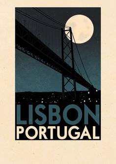 Portugal - Lisbon Art Print by Rui Ricardo - X-Small Tourism Poster, Poster Ads, Poster Prints, Art Deco Posters, Cool Posters, Art Actuel, Party Vintage, Portugal Travel, Vintage Travel Posters