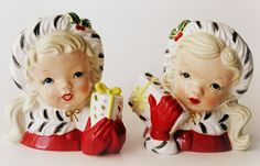 Salt  Pepper Shakers. I had a face vase like these as a child.