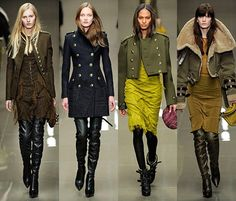 Одежда и обувь в стиле милитари - модные тренды в стиле милитари 2014