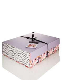 Flat Pack Floral Large Gift Box | M&S Large Gift Boxes, Gift Wrapping Paper,