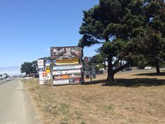 Fort Bragg, CA in California enjoy the sign, because it will soon be removed.
