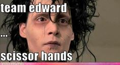 If you prefer Edward from twilight you are wrong. So is your face.