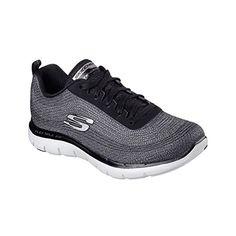 c94aa5c14 New Skechers Women s Flex Appeal 2.0 Metal Madness Sneaker Black 8.5 --  Read review