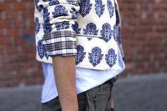 Blue and white print fashion