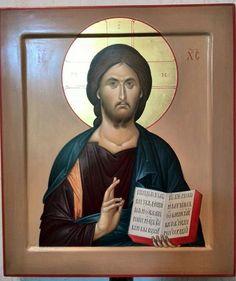 Byzantine Icons, Byzantine Art, Sign Of The Cross, Religious Paintings, Spiritual Path, Orthodox Icons, Christian Art, Holy Spirit, Jesus Christ