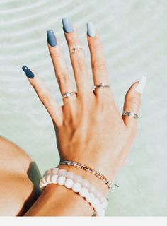 Summer Acrylic Nails Coffin Discover 127 superior acrylic coffin nails designs in summer season 40 Trendy Best Acrylic Nails, Acrylic Nail Art, Summer Acrylic Nails Designs, Acrylic Nails Coffin Short, Simple Acrylic Nails, Light Blue Nail Designs, Squoval Acrylic Nails, Acrylic Nail Designs Coffin, Silver Acrylic Nails