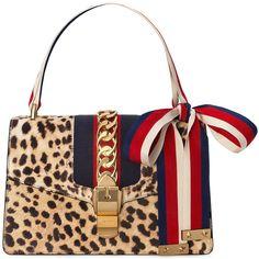 7cbd23b8812 Gucci Sylvie shoulder bag with leopard print