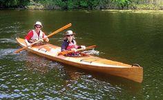 Shearwater Double Tandem Sea Kayak: Multi-Chined Touring Kayak with Sapele Decks!