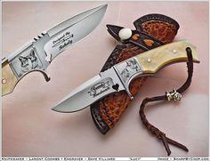 Photos - SharpByCoop's Gallery of Handmade Knives Crystal Sword, Handmade Knives, Custom Knives, Pocket, Gallery, Hunting Calendar, Leather, Handmade Products, Yolo