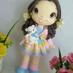 Peça com 25 cm #biscuit #porcelanafria #artesanato #enfeitedemesa#festacandy#candy#dolls#boneca#arcoiris