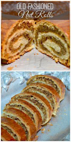 Slovak Recipes, Ukrainian Recipes, Czech Recipes, Hungarian Recipes, Hungarian Nut Roll Recipe, Hungarian Cookies, Hungarian Noodle Recipe, Old Fashioned Nut Roll Recipe, Baking Recipes