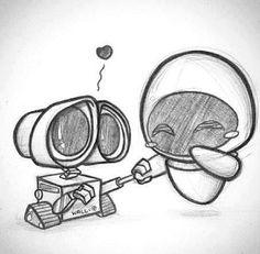 Wall-e and Eve <3 | via Tumblr
