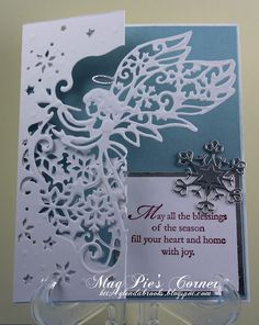 die is from Crafters Companion. MagPie's Corner : Blessings of the Season.....