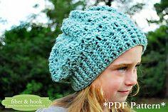 Snapdragon Slouch Hat, crochet