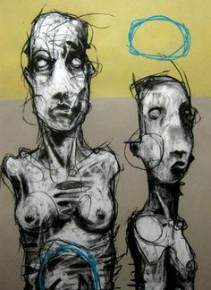 Joseph Loughborough - Cut the blue Portsmouth, Street Art, Character Sketches, Life Drawing, New Artists, Art Music, Mixed Media Art, Impressionism, Portrait