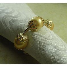 Pearl Napkin Ring Set of 12