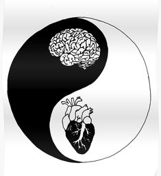 Yin Yang/Heart and Mind by Brynnen-SmilesYou can find Yin yang and more on our website.Yin Yang/Heart and Mind by Brynnen-Smiles Arte Yin Yang, Yin Yang Art, Yin And Yang, Yin Yang Tattoos, Brain And Heart, Heart And Mind, Tattoo Drawings, Cool Drawings, Tattoo Art