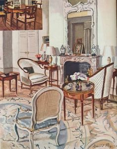 Brooke Marshall (Astor) Drawing Room decorated by Ruby Ross Wood