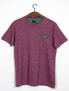 Tee Camiseta Masculina com Jaquard Figha