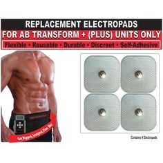 Beautyko Self Adhesive Replacement Gel Toning Pads (Set Of 4) For Ab Transform Plus Abdominal Toning Belt (FDA Cleared -As Seen On Tv) by BEAUTYKO. $15.39. The unique Beautyko electro pads have excellent chemical stability, they are water resistant, ozone resistant & non-corrosive (with great resistance to weathering). They also have a low linear shrinkage & last longer than others.. Beautyko Self adhesive FDA cleared Pads are a set of 4 pads & can be used with Ab Transform...