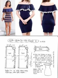 ideas for sewing clothes diy dress free pattern Sewing Dress, Dress Sewing Patterns, Diy Dress, Sewing Patterns Free, Sewing Clothes, Clothing Patterns, Pattern Dress, Costura Fashion, Diy Fashion Projects