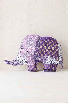 Magical Thinking Silk Sari Elephant Pillow - Urban Outfitters