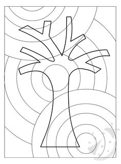Abstract Grid Tree · Art Projects for Kids - Basteln Kinder Classroom Art Projects, Art Classroom, Warm And Cold Colours, Grade 1 Art, Art Worksheets, Ecole Art, Autumn Art, Elements Of Art, Colouring Pages