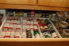 spice drawer | Organizing Ideas | Pinterest