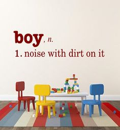 boy definition - Boys Room Vinyl Lettering Wall Decal by OZAVinylGraphics