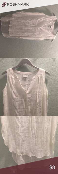 """BRAND NEW - NEVER BEEN WORN long White flowy top. NEVER BEEN WORN! it's the classic """"oh it will fit I am going to take the tag off before I try it on"""" way too tight around my arms! So cute ... Very upset it did not fit me. Smoke Free and pet free home. Ava & Viv Tops Blouses"""
