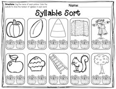 Beginning syllable practice.