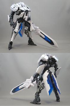 """個人要塞 on Twitter: """"クール・ホワイト。 人型ヘキサギア、ガウェインです。 スマートな体型を優先したのでかなりの大型機です。 騎士っぽさがイイ感じかと。… """" Spaceship Design, Robot Design, Character Concept, Character Design, Robot Factory, Mecha Suit, Gundam Custom Build, Lego Robot, Cool Robots"""