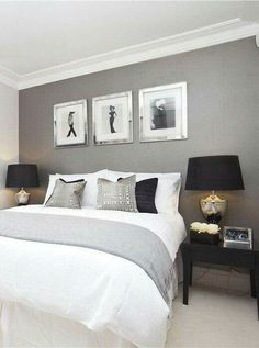 Cute grey white and navy blue room