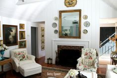 ..........Betsy Speert's Blog..........: Cottage Living Room, Complete Reveal.....