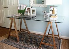 DIY Sawhorse Desks Inspired by Restoration Hardware