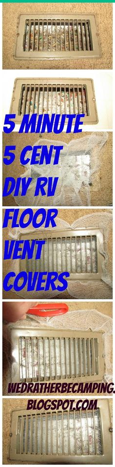 Life is Great in a 31 by 8: RV Maintenance Monday: DIY Frugal Floor Duct Vent Covers and Stove Top Cover