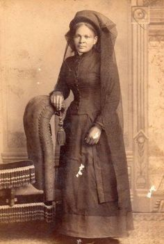 1889 Cabinet Card of an African American Woman in mourning.