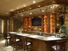 Bar area in a house we worked on (with Tara Custom Homes) at Flying Horse Ranch in Colorado.
