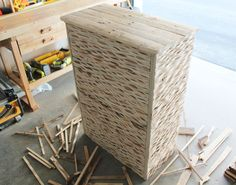 Pallet Wood Wave Dresser by BeachBumLivin