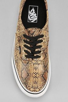 Vans Authentic Snake Men's Sneaker need gals snakes, cuz I hate snakes but would wear them